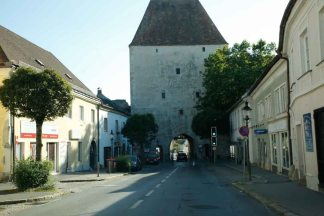 Walled town of Hainberg en der Donau