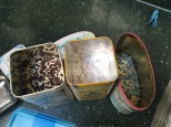 bread sprinkles in old tins...I've got a thing about tins
